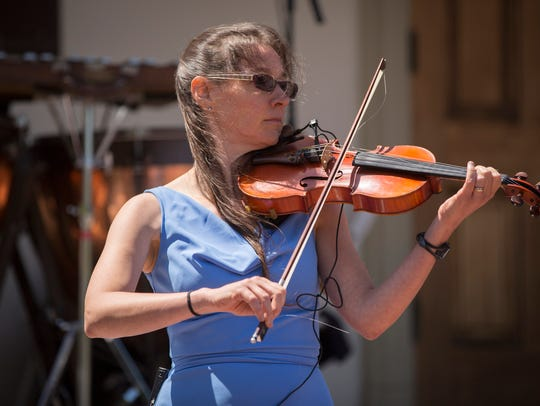 Blue grass fiddler and college professor Laura Burian