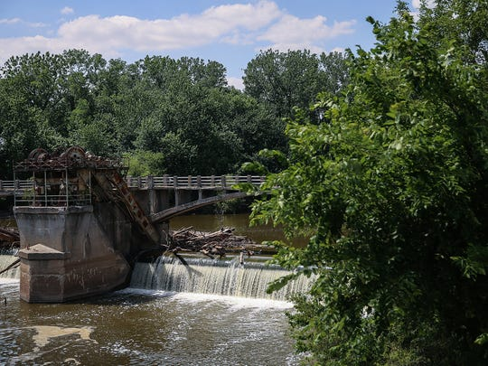 The Hosey Dam along the Maumee River in Fort Wayne,