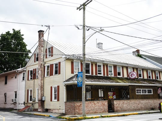 This is the Buck Hotel & Tavern in Jonestown, where police determined a fire was intentionally set early Thursday morning, state police said Friday.