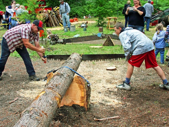 Sawing it old style: there will be many hands-on activities