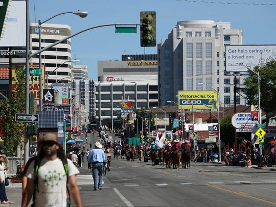 The Reno Rodeo Parade in midtown Reno on June 17, 2017.