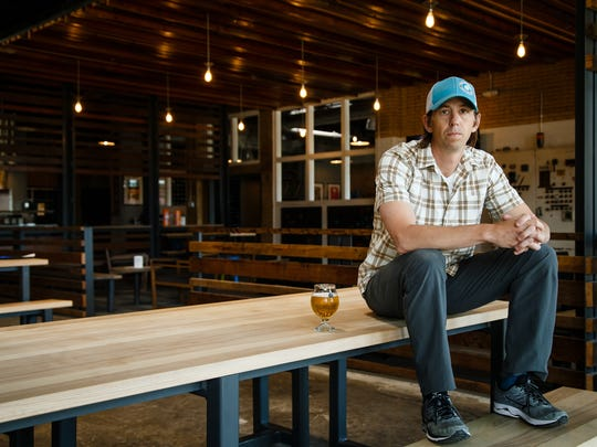 SingleSpeed Brewing founder Dave Morgan poses for a