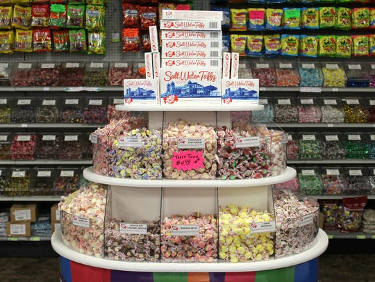 The taffy tower at Sweeties Candy of Arizona in Chandler.