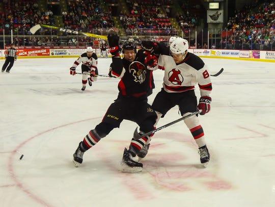 The Devils and Senators mixed it up at the Arena last