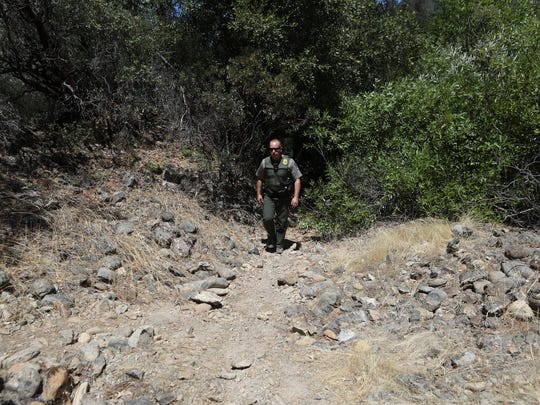 Acting Chief Ranger Dave Keltner patrols an area near