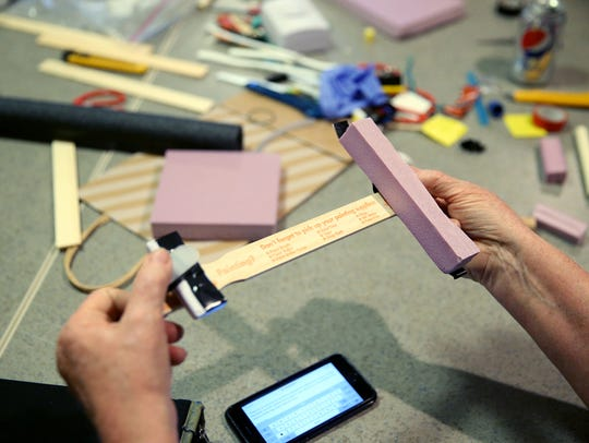 Workshop attendees had to use the materials and tools