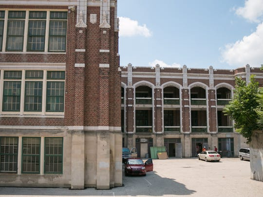 The site of the Hoffman school, where volunteers will help renovate the space on Thursday, July 20 for the Evanston community makeover.