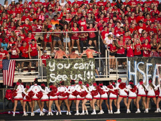 Fishers fans get ready for action, Fishers High School
