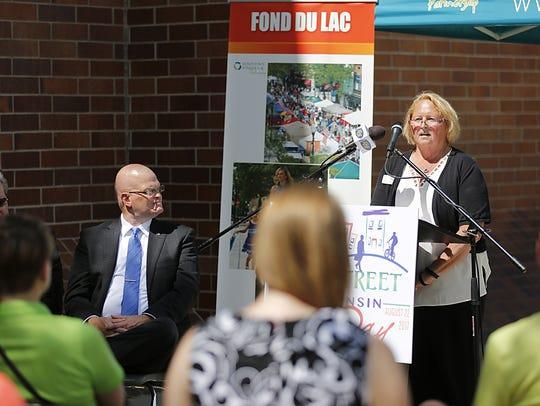 Fond du Lac City Council President Karyn Merkel talks