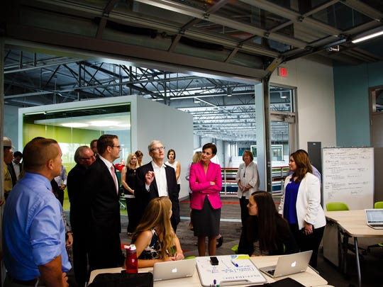 Apple CEO Tim Cook tours the Waukee Apex after announcing