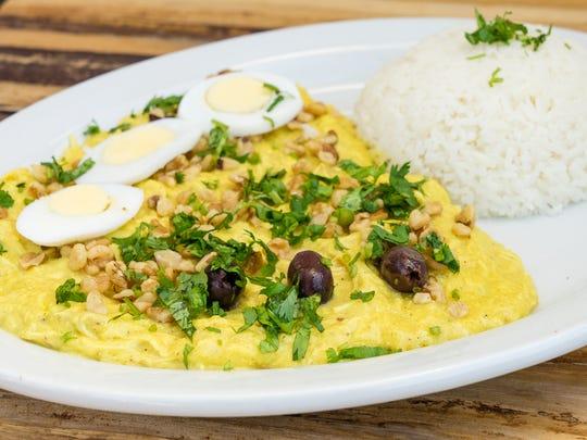 Aji de Gallina A creamy chicken stew made with shredded