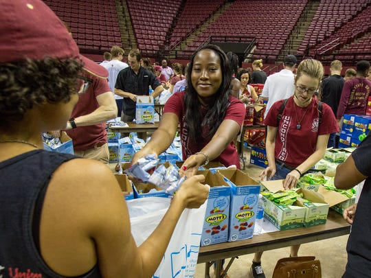 More than 250 FSU students and 100 staff volunteers