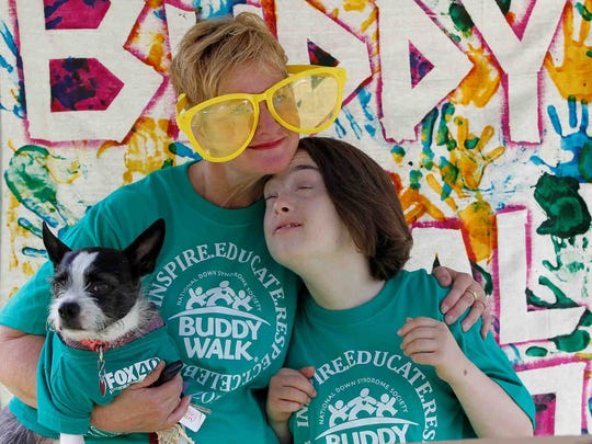 Hundreds gathered at Lower Highland Park in Endwell on Sept. 16, 2017 for the 19th annual Buddy Walk, celebrating people with Down syndrome.