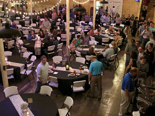 Hundreds of people eat and mingle during the 2017 Texoma's Best Awards banquet Tuesday night at The Warehouse next door to the Times Record News as the area's best businesses, people and organizations were recognized.