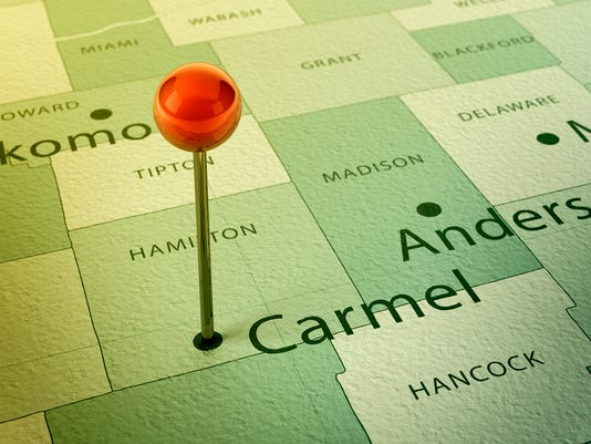 Carmel Map City Straight Pin Vintage