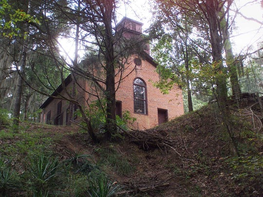 Campers at Rocky Springs Campground can enjoy seeing the ghost town's Methodist church, a waterfall and hiking.