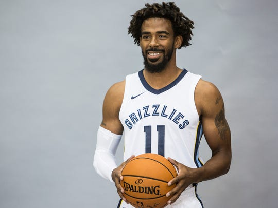 September 25, 2017 - Mike Conley poses for a picture during the Grizzlies' media day at the FedExForum.