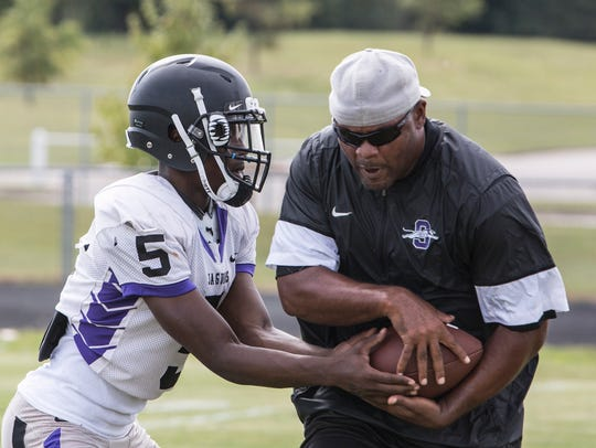 September 27, 2017 - Southwind's Mark Freeman hands