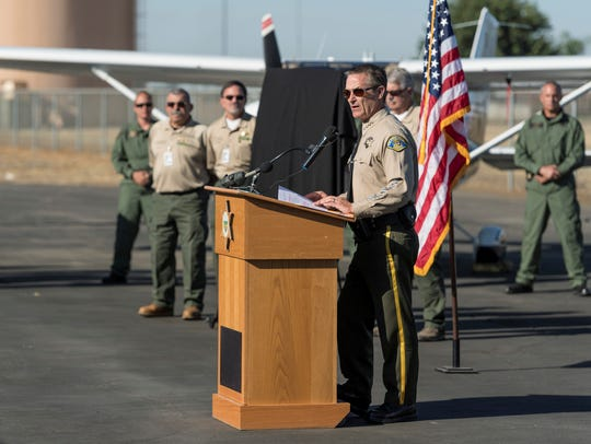 Tulare County Sheriff Mike Boudreaux introduced two
