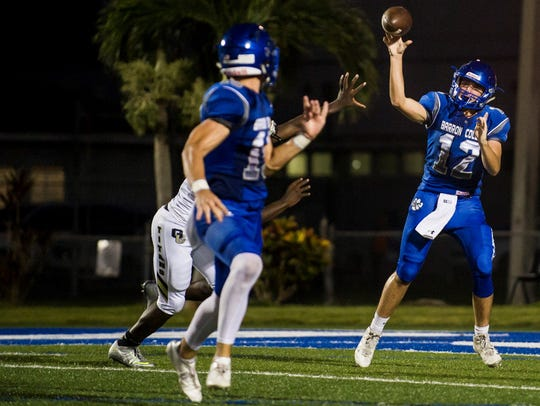 Barron Collier High School quarterback Jacob Kuhlman