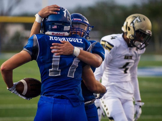 Barron Collier High School wide receiver Logan Rodriguez