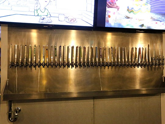 A row of beer tappers at 2.0 Ale House located at 65 N. Main St., Fond du Lac.