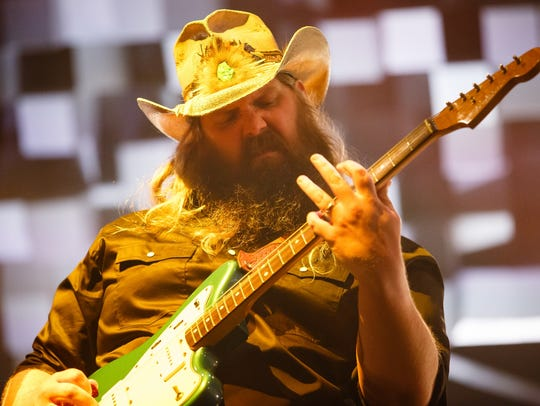 Chris Stapleton plays during his All American Roadshow