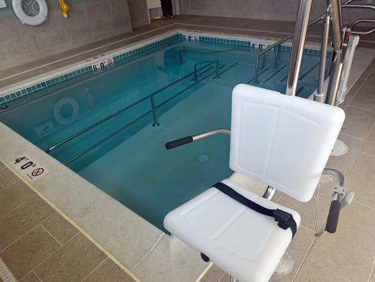 The aquatic therapy pool will be available for patients