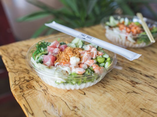 Poke Bros. offers a variety of signature poke bowls as well as custom bowls and desserts.