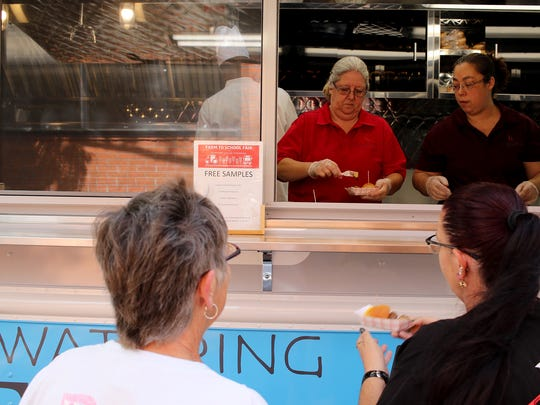 The WFISD food truck gave out free samples Saturday, Oct. 21, 2017, at the Downtown Farmers Market.