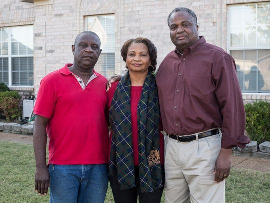 October 23, 2017 - From left, Ed Luster, stepfather,