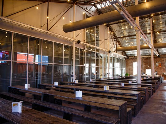 The Hall inside The Foundry in Valley Junction on Tuesday,
