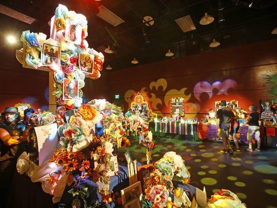 Altar de Muertos en el Día de los Muertos para el festival