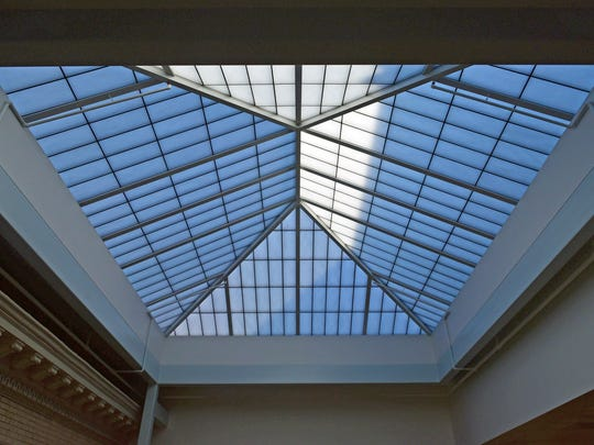 A translucent skylight will provide natural light at the expanded Coyle Free Library on Tuesday, October 31, 2017 on North Main Street, Chambersburg, The library is scheduled for a soft opening in late November.