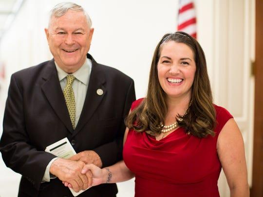 Rep. Dana Rohrabacher and Nikki Narduzzi at Virginia NORML lobby day in Washington, D.C. on Sept. 11, 2017.