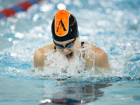 Ames' Sophie Sorenson competes in the 200 yard individual