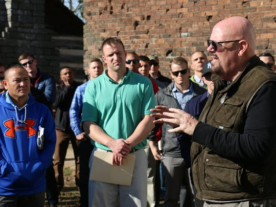Author Robert Hicks explains the history of the Battle
