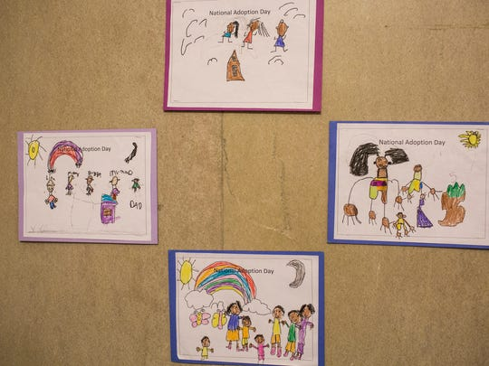 November 18, 2017 - Drawings lined the hallway of Chancery Court during National Adoption Day. Chancery Court completed 9 adoption cases for 11 children in honor of National Adoption Day.
