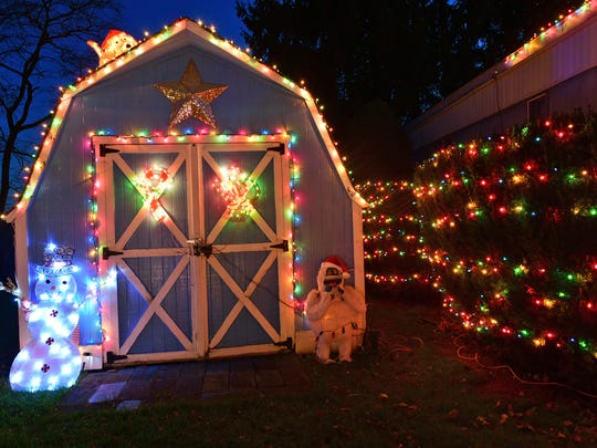 Patty and Larry Mack are into extreme Christmas decorating at their home at 1024 Warm Spring Road in Hamilton Township home.