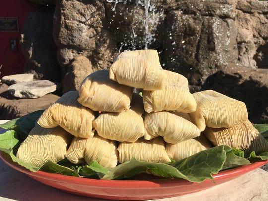 Los Gringos Locos' tamales include green chile or red chile pork tamales, as well as green corn varieties.