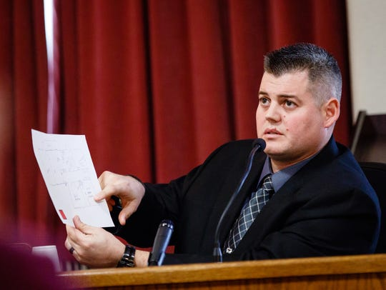 West Des Moines Detective Chris Morgan testifies during