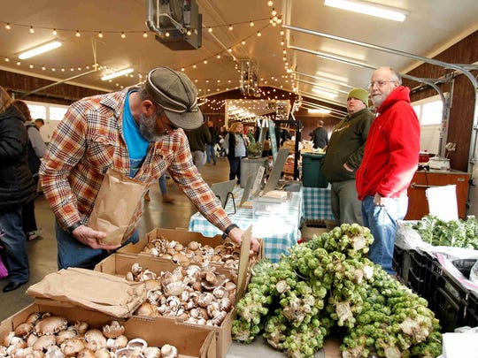 Scenes from the Broome County Regional Farmers Market at 840 Front Street, Binghamton on Saturday, December 2, 2017.