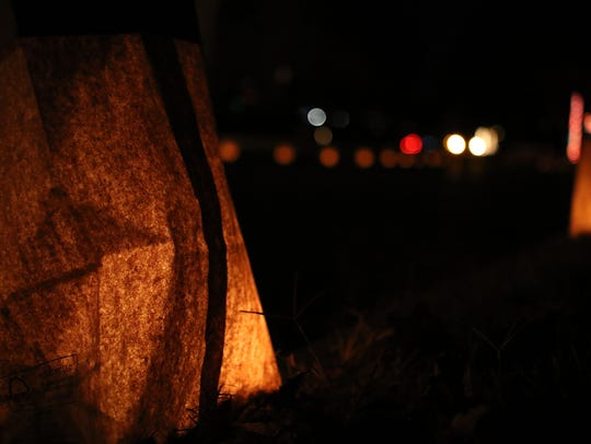 Due to weather, the Morningside Luminaries display scheduled for this weekend will be postponed until Dec. 15 and 16. Cars drive through Morningside to see more than 1,500 candles inside paper bags and homes decorated with Christmas lights.