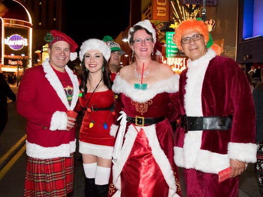 The 18th annual Reno Santa Pub Crawl kicks off on Saturday, Dec. 15, 2018, drawing thousands of participants to downtown Reno.