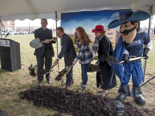 Breaking ground for the $54 million Xavier University-TriHealth