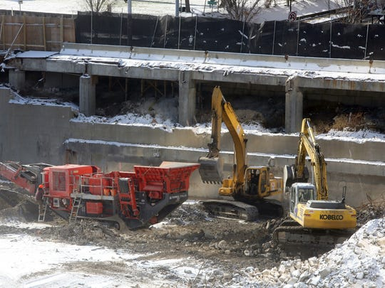 Work continuing at the site of the former Westchester