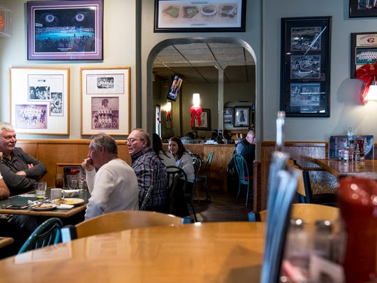 Locals and out-of-town visitors enjoy lunch at West