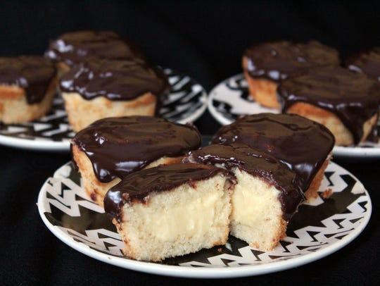 Boston Cream Cupcakes, a classic dessert in single-serving