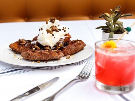 The churro waffle at the Gladly.