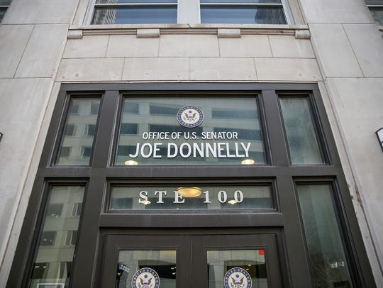 Indiana Sen. Joe Donnelly's office in Indianapolis